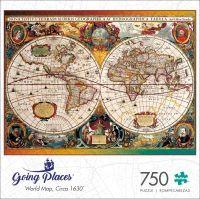 World Map, Circa 1630 750 pieces